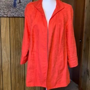 Blazer coral type color. Barely worn